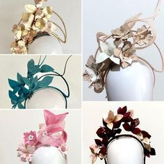 bc9043c6de3 This is a deposit payment for a Custom leather floral halo headpiece Like a  custom make. Sassy Millinery Onlinestore