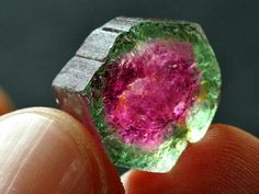 """I love this stone; this is a perfect specimen too. Looks good to eat :) """"Watermelon Tourmaline""""I love this stone; this is a perfect specimen too. Looks good to eat :) """"Watermelon Tourmaline"""" Minerals And Gemstones, Rocks And Minerals, What Is Watermelon, Green Watermelon, Beautiful Rocks, Mineral Stone, Watermelon Tourmaline, Rocks And Gems, Stones And Crystals"""