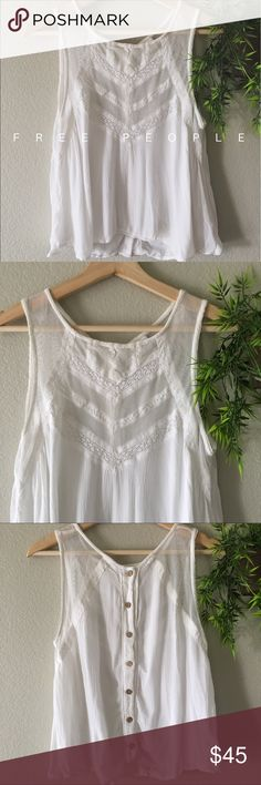 • Free People Top So incredibly lovely! Lightweight and comfortable Free People Tops