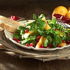 Orangen-Feldsalat mit Granatapfel