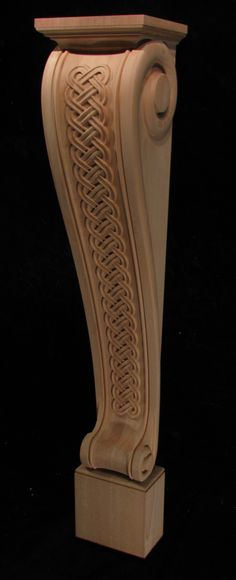 Carved Celtic Fireplace Leg.
