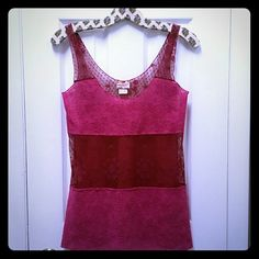Free People lace top Lovely plum lace top by Free People. Items sold as is, price reflects this. Free People Tops