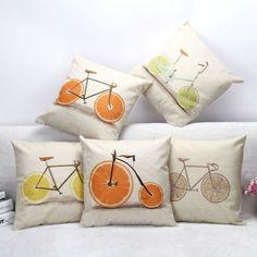 Kussenhoes fiets fruit