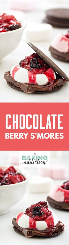Chocolate Berry S'mores are so easy to make and they're crazy delicious. With just a few ingredients, you'll have an incredible dessert in no time!