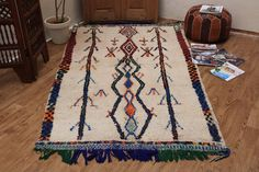 Authentic azilal carpet 4x7 Moroccan Berber rug Kilim AZILAL rug Home Decor Minimalist Berber Rug Handmade Rug Berber Rug Kilim Rugs, beni