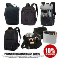 """¡¡¡¡ AMPLIAMOS LA PROMOCIÓN HASTA EL 30 DE JUNIO !!!... introduce en tu compra de bolso o mochila el cupón """"PROMOMOCHILAS"""", y obten un 10% de descuento!!!...  Visita: http://bargainfotos.com/promocion"""