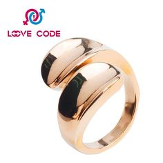 Cheap rose gold stainless steel ring blanks wholesale