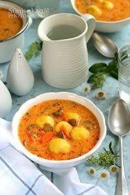 Sünis kanál: Gombaleves burgonyagombóccal Okra, Thai Red Curry, Ethnic Recipes, Food, Gumbo, Essen, Meals, Yemek, Eten