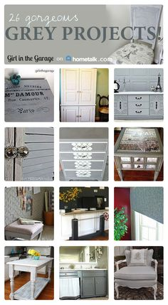 26 Gorgeous Grey Furniture and Home Decor Projects!  girlinthegarage.net
