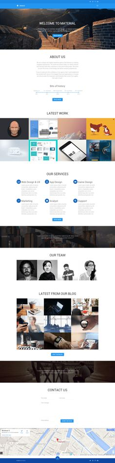 Material HTML5 template by Devero on Creative Market #html #html5 #webdesign #design #product