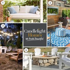 4 Backyard Design Necessities to bring your inside, outside this summer. Tips from Candlelight Homes, we build beautiful.