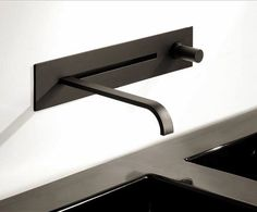 Black Wall Mount Faucet back in black….bathrooms! | black kitchens, matte black and wall