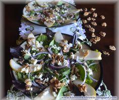 kierunek zdrowie: Sałatka z gruszką i serem pleśniowym Tacos, Mexican, Pudding, Ethnic Recipes, Desserts, Food, Tailgate Desserts, Deserts, Custard Pudding