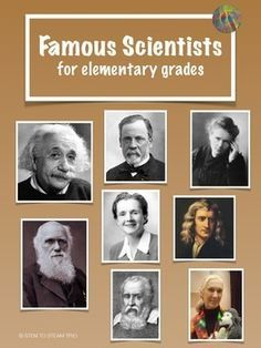 This is a collection of eight single page posters of famous scientists.  Each poster includes a picture of the scientist and a short description of the scientist's contributions written appropriately for the elementary level. When hung in the classroom these posters can be viewed by the students and referred to  throughout the year as different topics arise when teaching the Next Generation Science Standards.