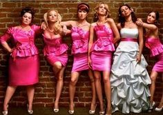 """Strike a pose that is inspired by the hilarious """"bridesmaids"""" movie... key ingredient - a heavy dose of attitude!!"""