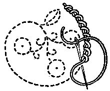 CHAINED STITCHES: vocabulary 4: Twisted Chain Stitch design by Mrs. A. Christie London 1920