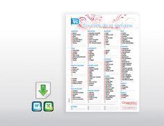 http://organizen.fr/ #Organisation #Cuisine Un modèle de liste de courses à télécharger, personnaliser aux habitudes de la #maison et à imprimer à volonté !