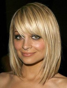 Cute Blond Bob Style Straight Mid-Length Synthetic Hair wigs
