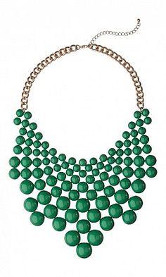 Green Bead Necklace - Plümo Ltd