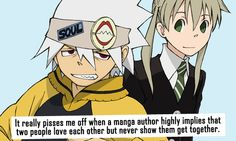 Otaku Confessions Soul and Maka are a PERFECT example of this!