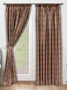 Livingston Plaid Red Curtains from Curtains 2go