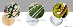 """Z mchu można wykonać wiele oryginalnych obrazów, ścian, dekoracji domu, ale i podkreślić indywidualny charakter swojej firmy, np. za pomocą """"zielonego"""" logotypu. A to jedynie przykład tego, co Moss Trend® może dla Was wyczarować z tego naturalnego materiału.  #chrobotek #logo #identyfikacja #identyfikacjagraficzna"""