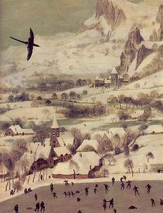 Hunters in the Snow, Winter (detail), 1565, Pieter Bruegel the Elder. Flemish (ca 1525-1569)