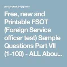 Print, Practice and Pass FSOT (Foreign Service officer ...