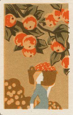 #vintage #russian #matchbox #label #oranges Graphic Design Art, Matchbox Art, Illustration Art, Poster Art, Matchbook Art, Postage Stamp Design, Design Art, Cover Art, Vintage Illustration