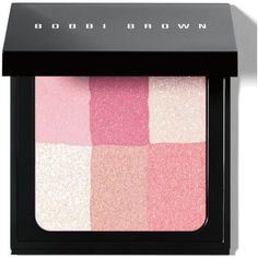 Bobbi Brown Pastel Pink Brightening Brick ($46) ❤ liked on Polyvore featuring beauty products, makeup, cheek makeup, blush, beauty, cosmetics, pastel pink, blending brush, bobbi brown cosmetics and blender brush