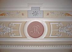 Particolare soffitto decorato a casa Pitti