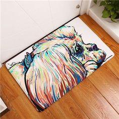 2017 Modern Style Lovely Painting Dog Print Carpets Anti-slip Floor Mat Outdoor Rugs Animal Front Door Mats