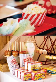 Classic Carnival Treats for a Circus Party