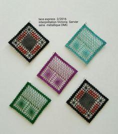 Crochet Bikini, Crochet Top, Bobbin Lace Patterns, Lace Heart, Lace Jewelry, Lace Making, Lace Detail, Tatting, Beaded Necklace
