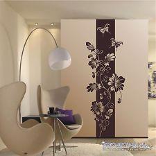 Unique WANDTATTOO Blumen Ranke Banner Bl ten Schmetterlinge Motiv XL