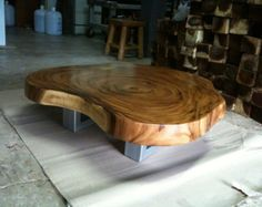 Live Edge Dining Or Conference Table Acacia Wood Live от flowbkk