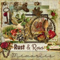 Raspberry Road Designs: Rust & Roses Scrapbook Collection & Mini Freebie