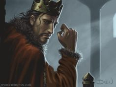 "Stannis Baratheon by Chris Dien. ""	I never asked for this crown. Gold is cold and heavy on the head, but so long as I am the king, I have a duty … If I must sacrifice one child to the flames to save a million from the dark … Sacrifice … is never easy, Davos. Or it is no true sacrifice."""