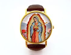 Our Lady of Guadalupe Watch Religious Vintage by 10northcreative