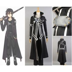 605010fbd Sword Art Online Kazuto Kirigaya Cosplay Costume Anime Halloween, Halloween  Cosplay, Halloween Costumes,