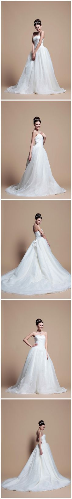 Beaded Bodice Full A-Line Tulle Wedding Dress