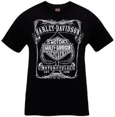 a6ac6e70585 Amazon.com  Harley-Davidson Mens Spade Label Black Short Sleeve T-Shirt