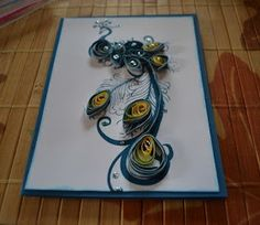 Use Your Stash Blog Hop - Quilling Peacock