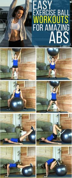 Get amazing abs and a flat stomach with these stability ball exercises.