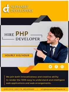 PHP Developers develop programs, applications, and web sites using the dynamic scripting language PHP. PHP is known for web development and business applications. Depending on job function, PHP developers may be classified as software developers or web developers.#php #websites #phpdevelopers #html #css #javascript #programming Application Development, Web Application, Design Development, Software Development, Pay Per Click Advertising, Search Engine Optimization, Php, Programming