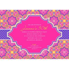 Moroccan Party Print