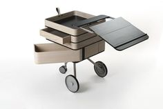 Amazing of Mobile Office Desk Cool And Creative Home Office Desks Hometone - Furnishings is a vital component of your office. Home Office Furniture, Home Office Decor, Office Desk, Furniture Design, Mini Office, Mobile Desk, Mobile Office, Portable Desk, Portable House