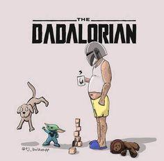 The Dadalorian Fan Art Dr Evil, Star Wars Cast, Single Dads, Art Series, Geek Art, Old Men, Mandalorian, My Father, My Images