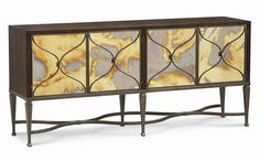 Smoke and Mirrors con-closto-001 (0 Reviews) This item has no reviews Collection: Classic Contemporary dimensions: 74W x 18D x 37H features: 4 Doors with Antique Glass Mirror, Behind Left Door is 1 Drawer with Silver Tray, Behind Right Door is 1 Adjustable Shelf Buffet for DR
