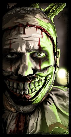 """MAKEup❗️Halloween American Horror Story - Freak Show - Brian Roll - ''Twisty'' ---- """"American Horror Story"""" art show❗️ at Hero Complex Gallery Arte Horror, Horror Art, American Horror Story Art, Fantasy, Horror Pictures, Creepy Clown, Coven, Horror Stories, Macabre"""